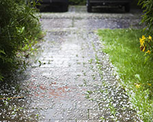 Stay safe when hail starts to fall