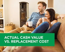 actual cash value or replacement cost in your home insurance policy