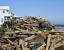Photo of damage done by Hurricane Matthew